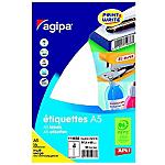 Étiquettes rectangle agipa 97 h mm blanc 64 paquet