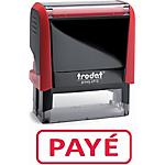 Tampon à formule commerciale trodat xprint 4992 payÉ 1 ligne rouge