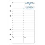 Recharge pour organiseur exacompta exatime 17 1 jour par page 17 h x 10 5 l cm blanc