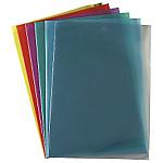 10 pochettes coin PVC 15/100- Bleu
