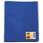 Protège documents 80 pochettes40 vues economique bleu