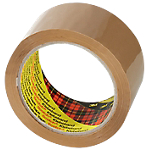 Ruban adhésif demballage polypropylène scotch 5cm l x 66m l 48 µm marron 6 paquet