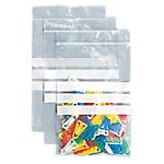 Sachets avec fermeture à glissière 3 bandes polyéthylène elami 120 h x 80 l mm 50 microns transparent 1000 paquet