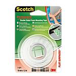 Ruban de fixation double face scotch® extra fort 19 mm x 1 5 m usage intérieur