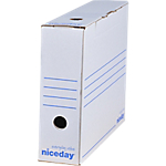 50 boîtes archives niceday dos 80 mm blanc