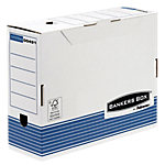 10 boîtes archives recyclées - Bankers box by fellowes - dos 100 mm
