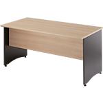 Table bureau pieds panneaux coloris hêtreanthracite gamme syracuse