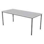 Table multi usages plateau gris clairpiétement anthracite l.180 x l.80 x h.74 cm