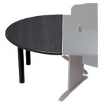 Rallonge de table 12 ronde gamme syracuse noir frêne