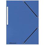 Paquet de 10 chemises 3 rabats et élastique office depot 510ème bleues
