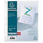 10 Pochettes perforées - Exacompta - 170 x 2 x 220 mm - Transparent