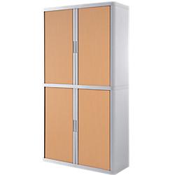 armoire portes rideaux h 204 x l 110 cm paperflow. Black Bedroom Furniture Sets. Home Design Ideas