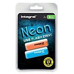 2 Clés USB - Integral - Neon - 8 Go - Assortiment