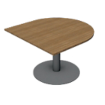Table module 12 rond aeris dim l.110 x p. 110 x h.72 cm noyer