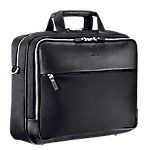 """Housse de transport mobilis cuir métal pour pc portable 14 16"""" noir"""