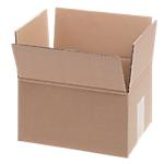 10 caisses américaines - double cannelure -  L.21 x l.17 x H.11 cm - brun