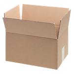 10 caisses américaines - double cannelure - L.30 x l.21 x H.15 cm - brun