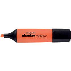 Marcador fluorescente Niceday HC1-5 punta biselada 1.0 - 5.0 mm naranja