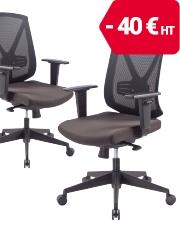 Seulement 109€ HT Chaise de bureau Realspace Black Signum