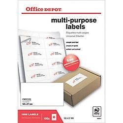 Etichette multifunzione Office Depot Just corners bianco 105 (l) x 57 (h) mm 1000 etichette 100 etichette