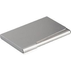 Porta biglietti da visita Durable Tascabile argento 57 x 90 mm 20 Biglietti alluminio 9 (l) x 1 (h) cm