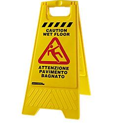 Image of Cartello mobile Viso pavimento bagnato 68 (h) x 33 (l) cm