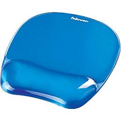 Mousepad con poggiapolsi Fellowes Crystal Gel blu 20 2 (l) x 23 (p) x 2 3 (h) cm