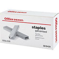 prezzo Punti metallici Office Depot 23 8 argento cucitrici passo 23 8 1.000 pezzi in offerta