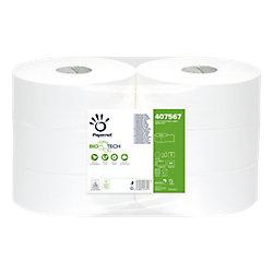 Image of Carta igienica Papernet Maxi Jumbo Biotech 2 bianco 6 rotoli 811strappi