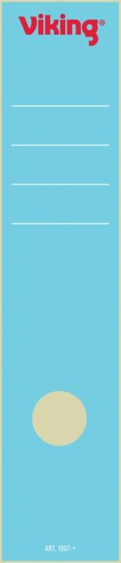 Viking Rückenschilder selbstklebend 75 mm 6 x 28 5 cm Blau 10 Stück