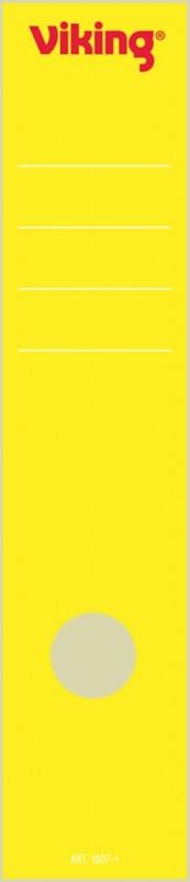 Viking Rückenschilder selbstklebend 75 mm 6 x 28 5 cm Gelb 10 Stück
