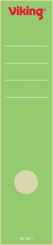 Viking Rückenschilder selbstklebend 75 mm 6 x 28 5 cm Grün 10 Stück