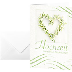 Sigel Glückwunschkarten Hochzeit DS042 DIN A6 220 g/m² Sortiert 10 Stück