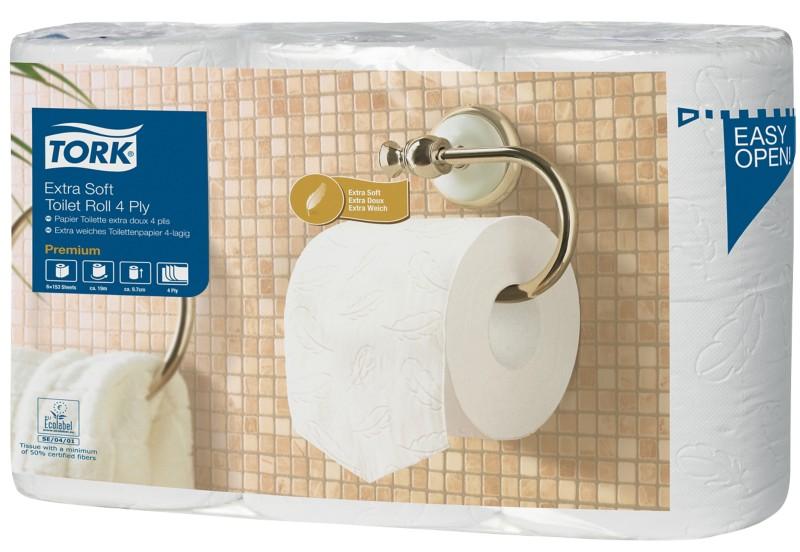 Tork Toilettenpapier Premium 4 -lagig Pack 6