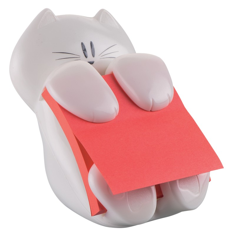 Post-it Post-it Z-Notes Spender CAT-330 Weiß 76 x 76 mm 1 Block Super Sticky Z-Notes mohnrot