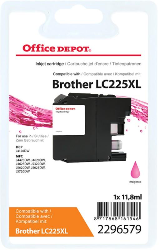 Vorschaubild von Office Depot Kompatibel Brother LC225XL Tintenpatrone Magenta