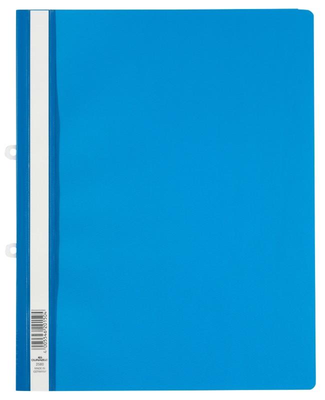 DURABLE Schnellhefter 2580 DIN A4 Überbreite Blau Hartfolie