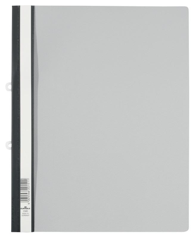 DURABLE Schnellhefter 2580 DIN A4 Überbreite Grau Hartfolie