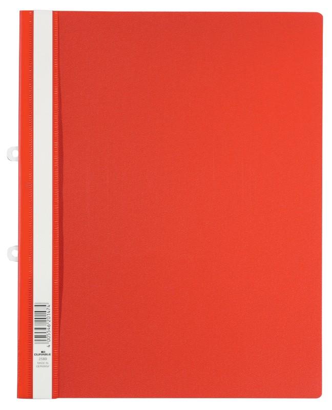 DURABLE Schnellhefter 2580 DIN A4 Überbreite Rot Hartfolie
