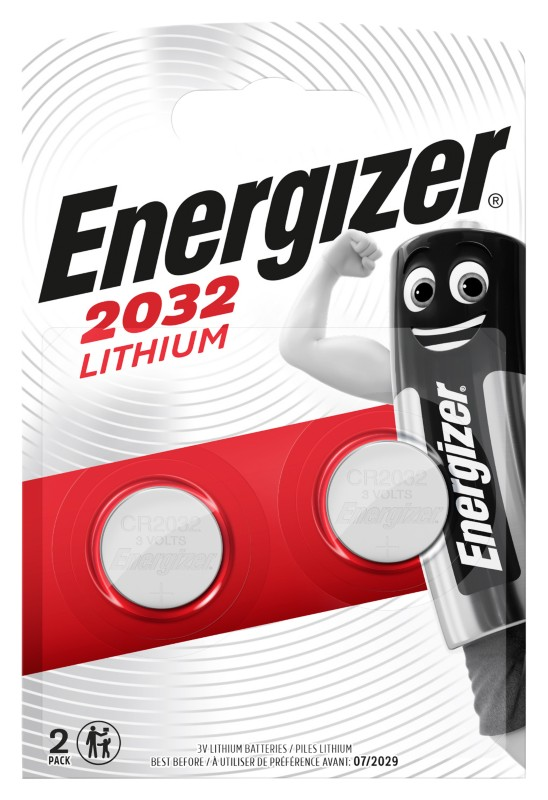 Energizer Knopfzelle Lithium CR2032 Pack 2