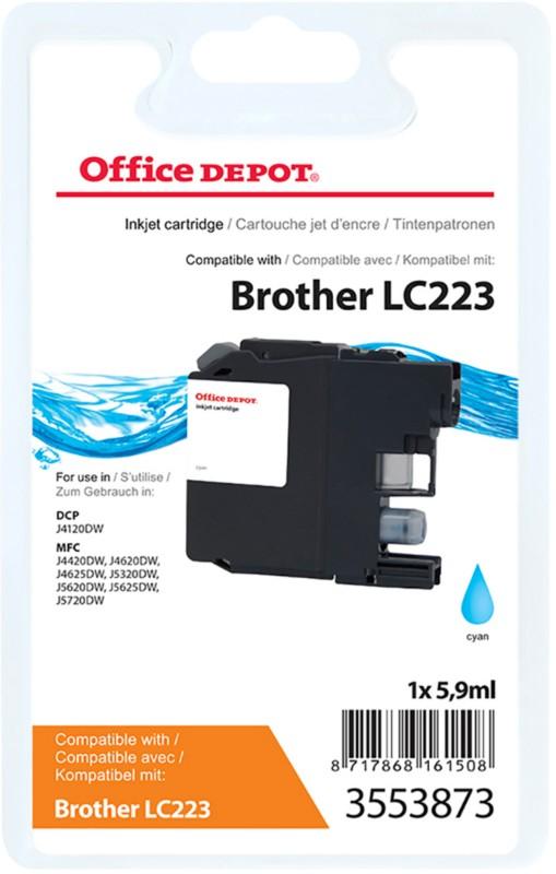 Vorschaubild von Office Depot Kompatibel Brother LC223C Tintenpatrone Cyan