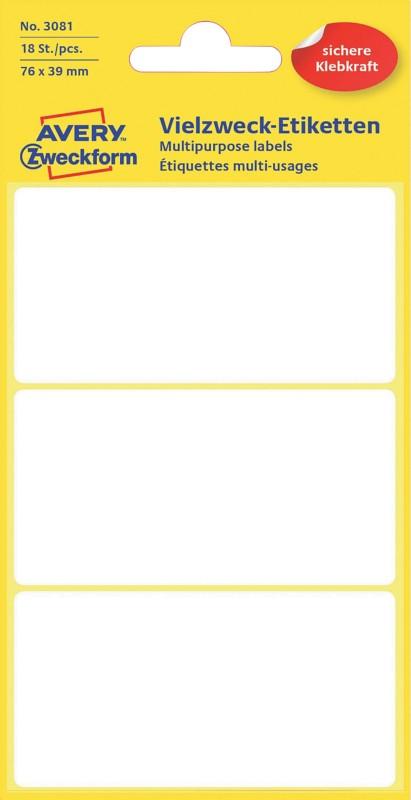 Avery Vielzwecketiketten 3081 Weiß 18 Stück 18 Etikett