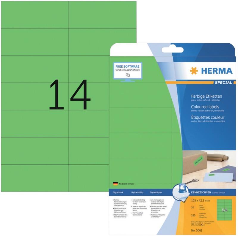 HERMA Etiketten Grün 280 Stück Pack 280