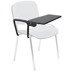 Armlehne + Tischplatte rechts für Stapelstuhl (Stoff) Schwarz