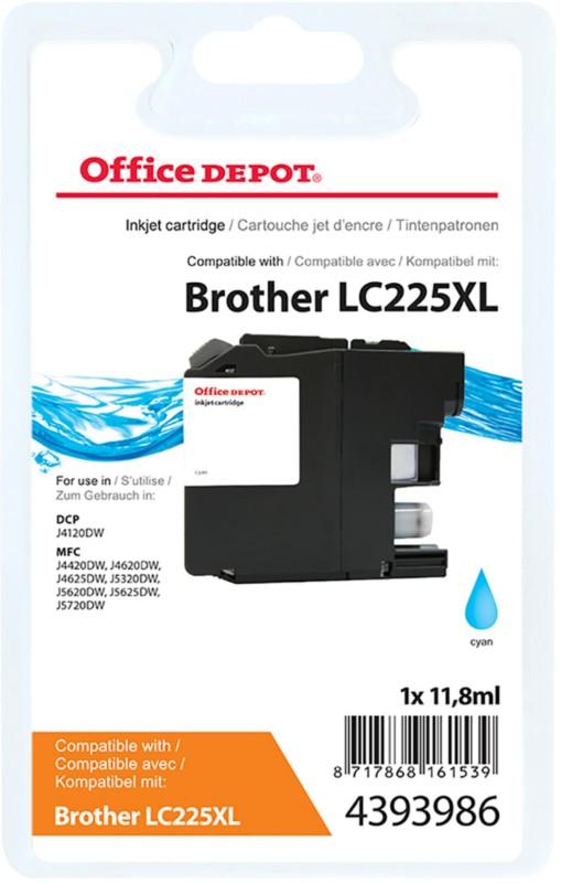 Vorschaubild von Office Depot Kompatibel Brother LC225XL Tintenpatrone Cyan