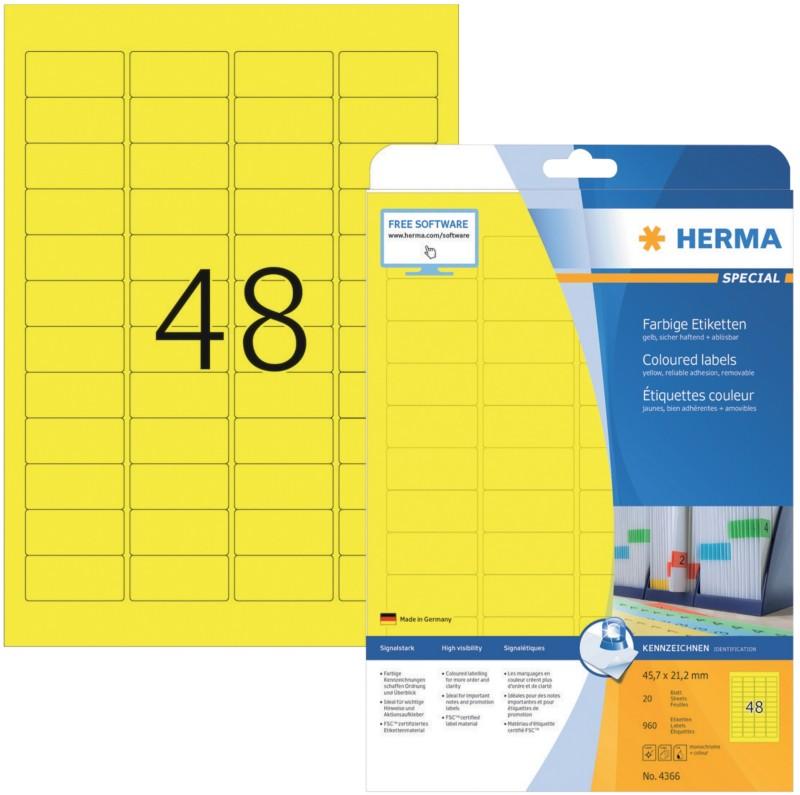 HERMA Etiketten Gelb 960 Stück Pack 960