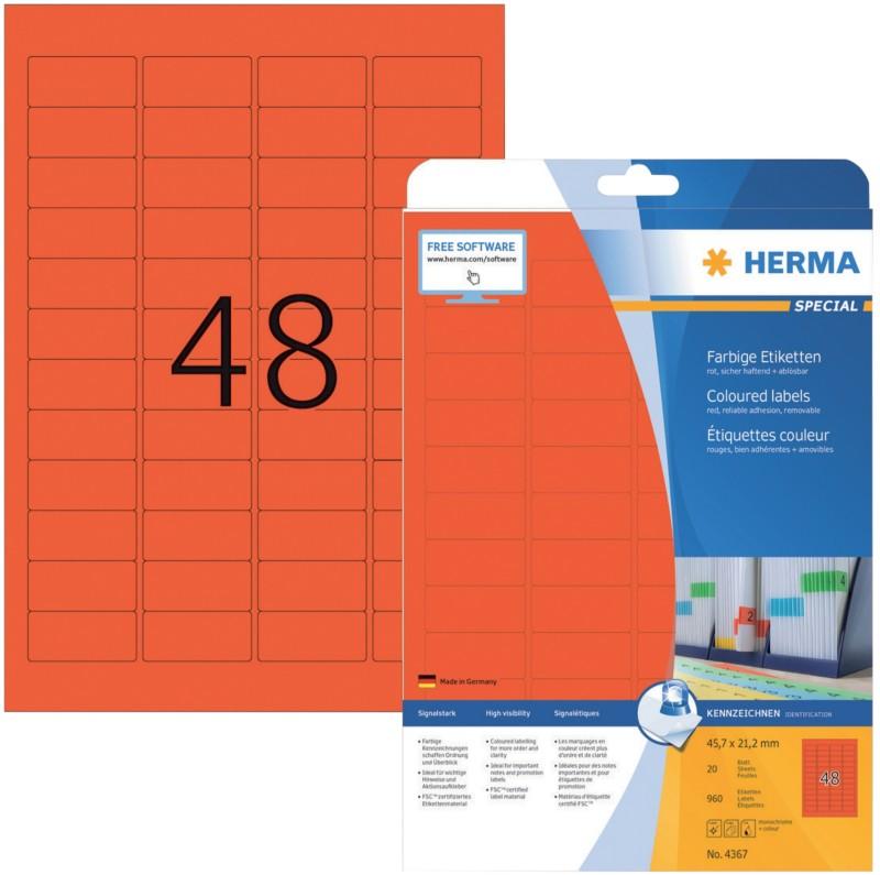 HERMA Etiketten Rot 960 / Pack