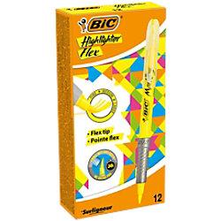 BIC Textmarker Flex Neongelb 12 Stück
