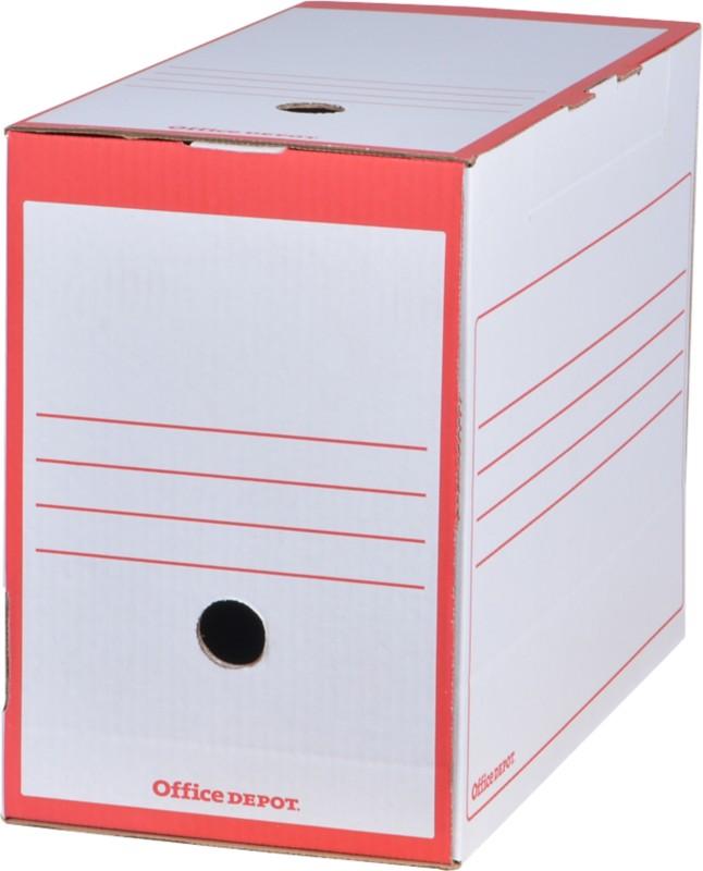 Office Depot Archivschachteln DIN A4 Rot 25 Stück