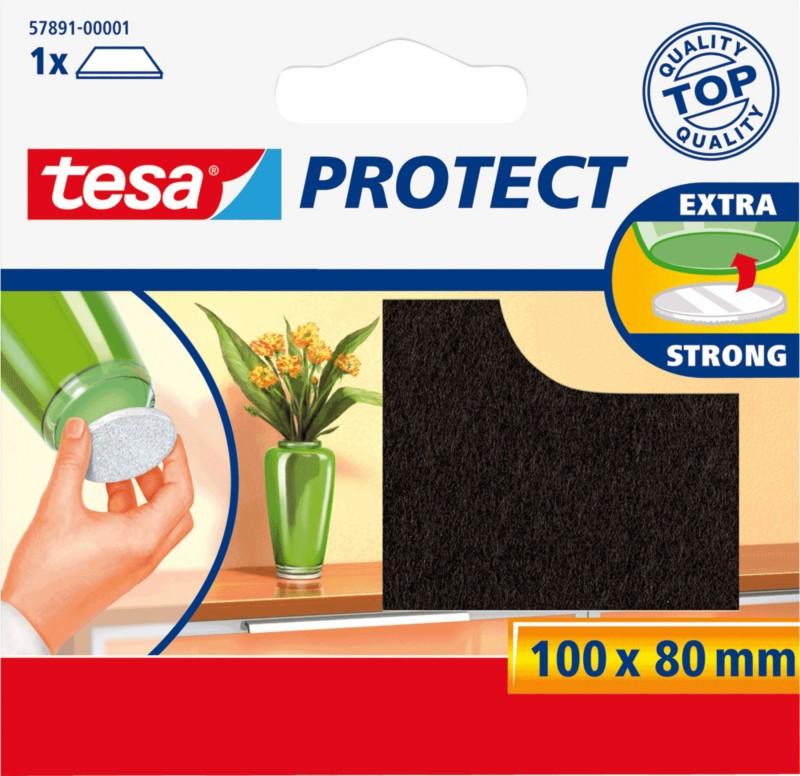 Tesa Filzgleiter Protect/ 57891-00001-00 100 x 80 mm braun rechteckig